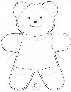 simple teddy bear pattern - Google Search
