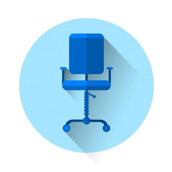 Office Chair Colorful Icon Stock Vector Sponsored Colorful Chair Office Vector Ad In 2020 Business Photos Stock Illustration Vector Illustration