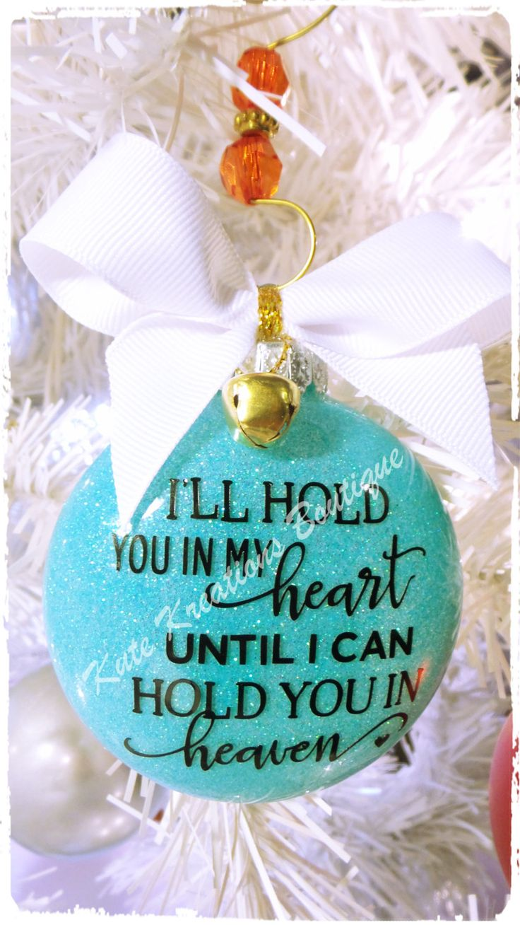 Baby Sentiment Personalized Ornaments/Baby Memorial Ornament/Christmas Ornament/
