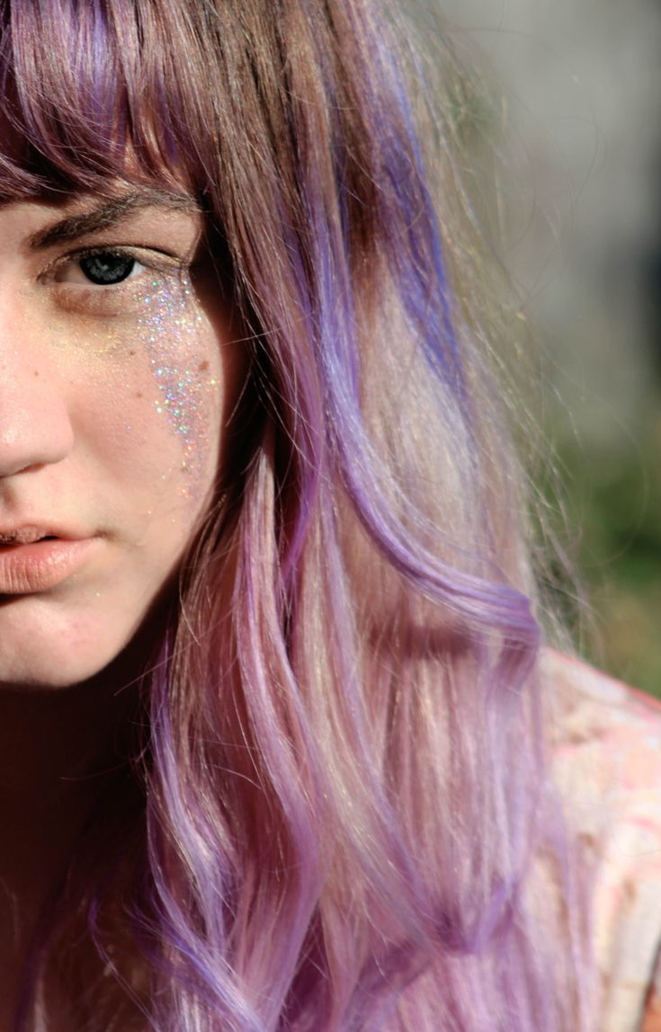 Lavender Streaks Want To Do This To My Hair Purple