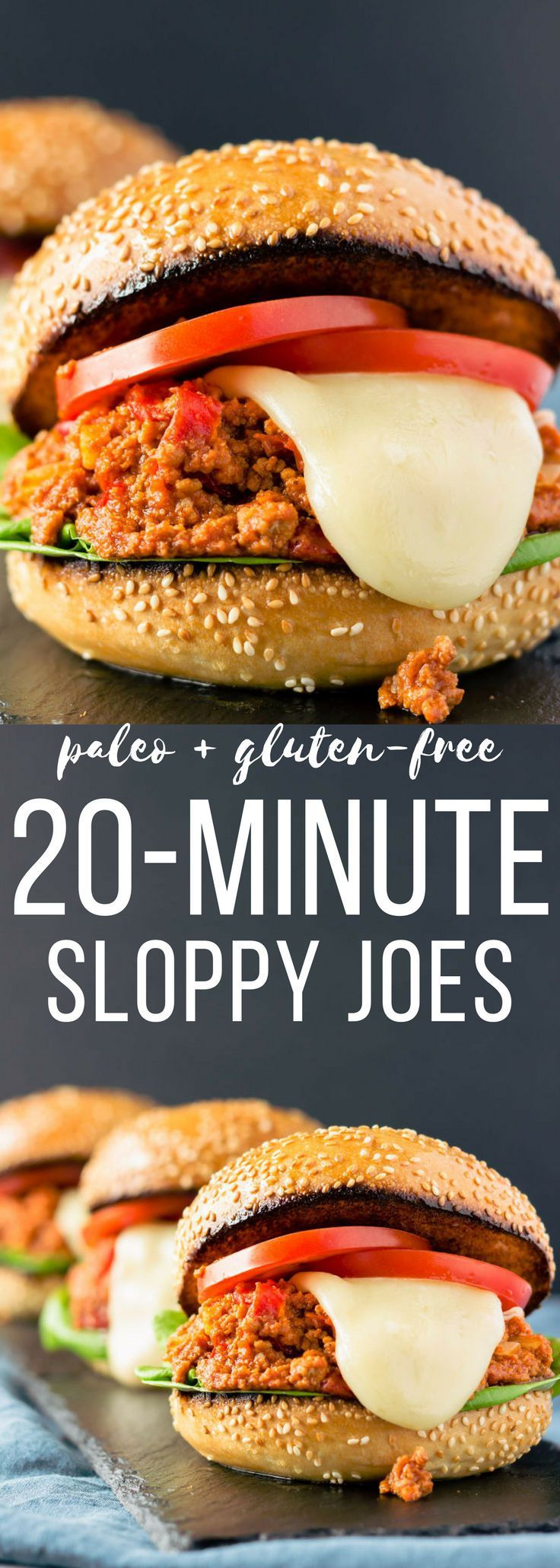 These quick and easy paleo sloppy joes can be made, from scratch, in just 20 minutes. This clean eating, kid-friendly recipe is the perfect weeknight meal and is guaranteed to please the whole family. Gluten-free and dairy-free options also available. | o