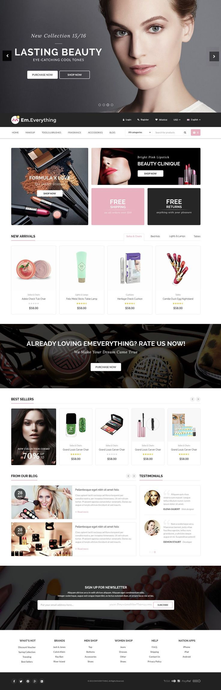 Everything - Multipurpose Responsive Prestashop Theme for Beauty and #Cosmetics Products #Shop Stunning #Website development.