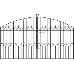 Royal Gothic Wrought Iron Estate Gates from Cannock Gates