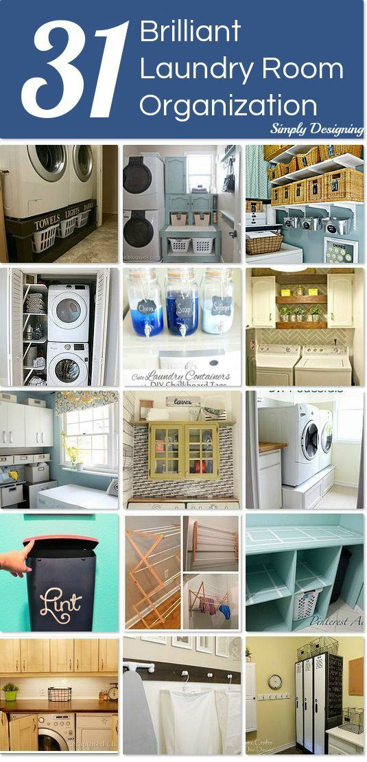 DIY #31 Beautifully Brilliant Low Budget ways to Organize your Laundry Room !