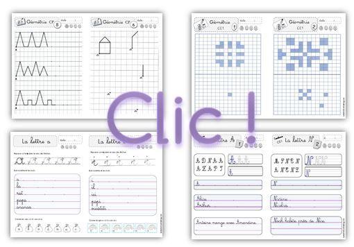 fichiers en autonomie CP CE1 français / mathématiques.