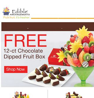 Edible Arrangements Code for  FREE Chocolate Dipped Fruit Box