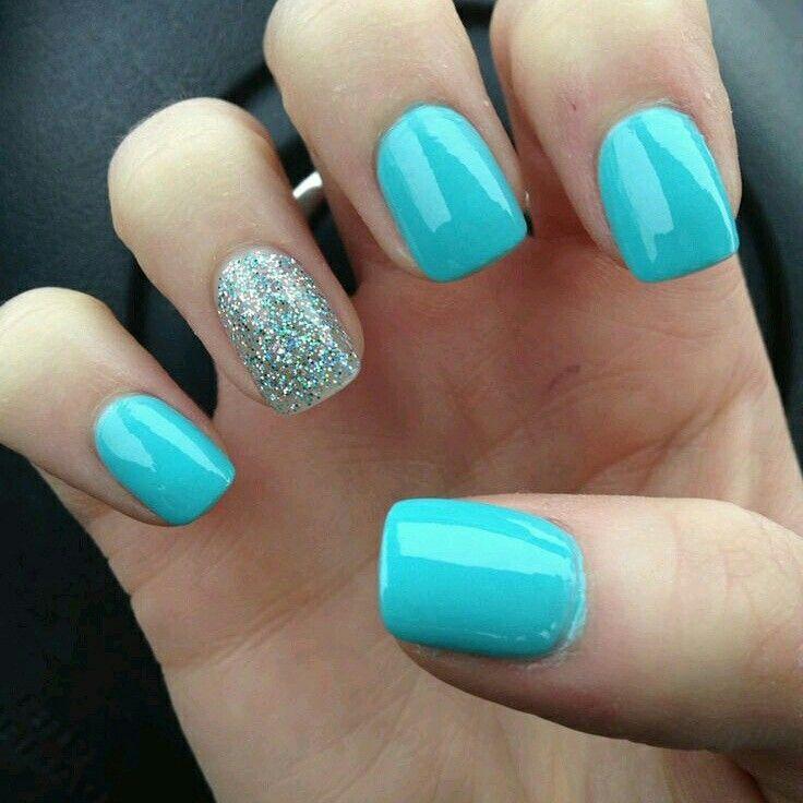Tiffany Blue Gel Nail Polish