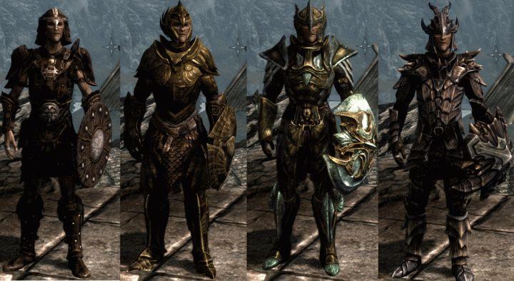 skyrim armor | Skyrim Light Armor Types: Leather, Elven, Glass and Dragonscale Armor