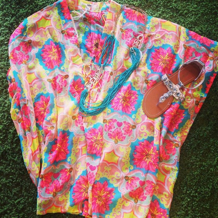 Positano love kaftan $30  Glitter me sandal $40   Necklace $18   Total :$88 — at Style Society Sydney.
