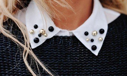 Еще один вариант украшения воротничка / Воротнички / Модный сайт о стильной переделке одежды и интерьера