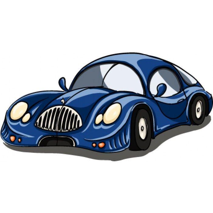 Muursticker Snelle Blauwe Auto #muurstickers #kidzstijl #voertuigen #auto #blauw