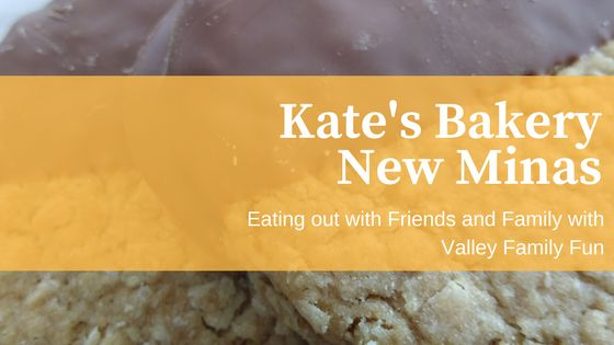 Eating out with friends and family at Kate's Bakery in New Minas. This place features a section of British food to purchase as well as in-house made British foods to take out or eat in.