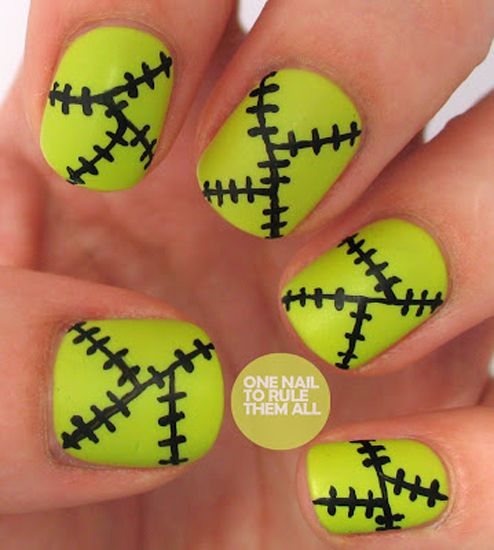 Frankenstein by One Nail to Rule Them All - 25 Fun Halloween Nail Art Ideas