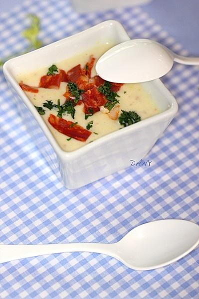 Crème de maïs persillée au chorizo