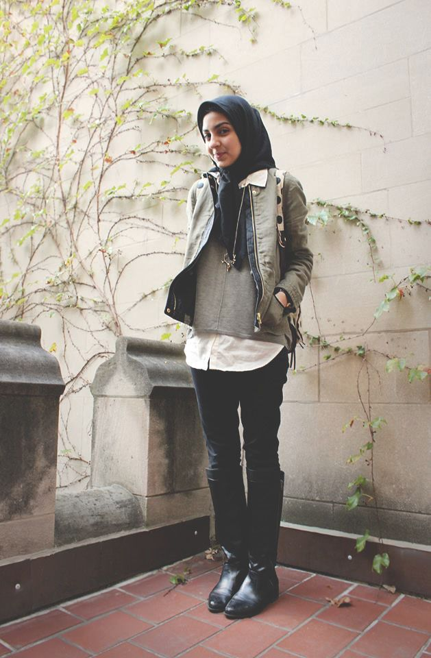wonderful hijab travel outfits