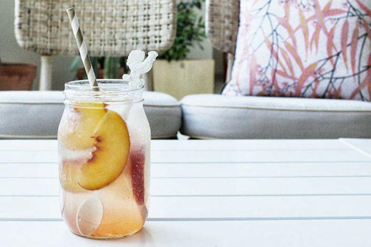 peach shrub cocktail