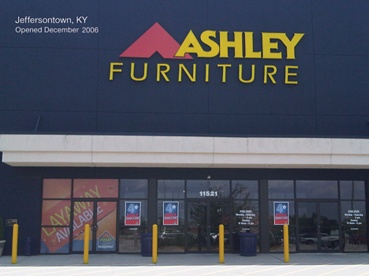 An amazing collection of furniture and furnishing for your new home can be found at Ashley Furniture HomeStore. Ashley Furniture is located at 11521 Bluegrass Pkwy, Louisville, KY 40299 near I-64 and Blankenbaker Pkwy and online at http://www.ashleyfurniturehomestore.com . Info on the Jeffersontown, KY store was at http://www.ashleyfurniturehomestore.com/StoreLocator/StoreDetail.aspx?store=Jeffersontown= Moving to Louisville, KY? http://www.ShopLouisvilleKyHomesForSale.com