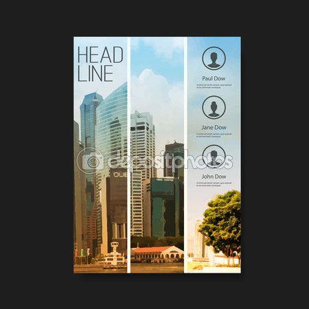 Листовка или дизайн обложки с небоскрёбами — Stock Illustration #67365913