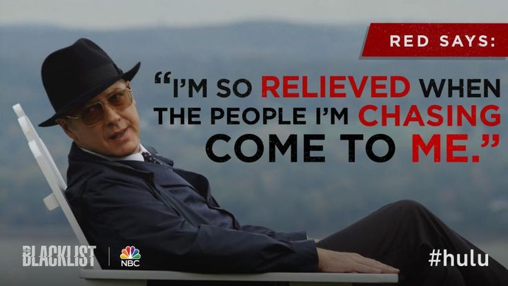 The Blacklist Twitter account | target on the blacklist can be challenging wait with red on hulu http ...
