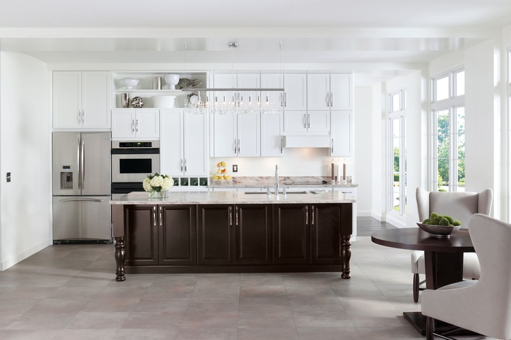 Aristokraft pairs winstead 39 s clean streamlined design for How to clean white wood cabinets
