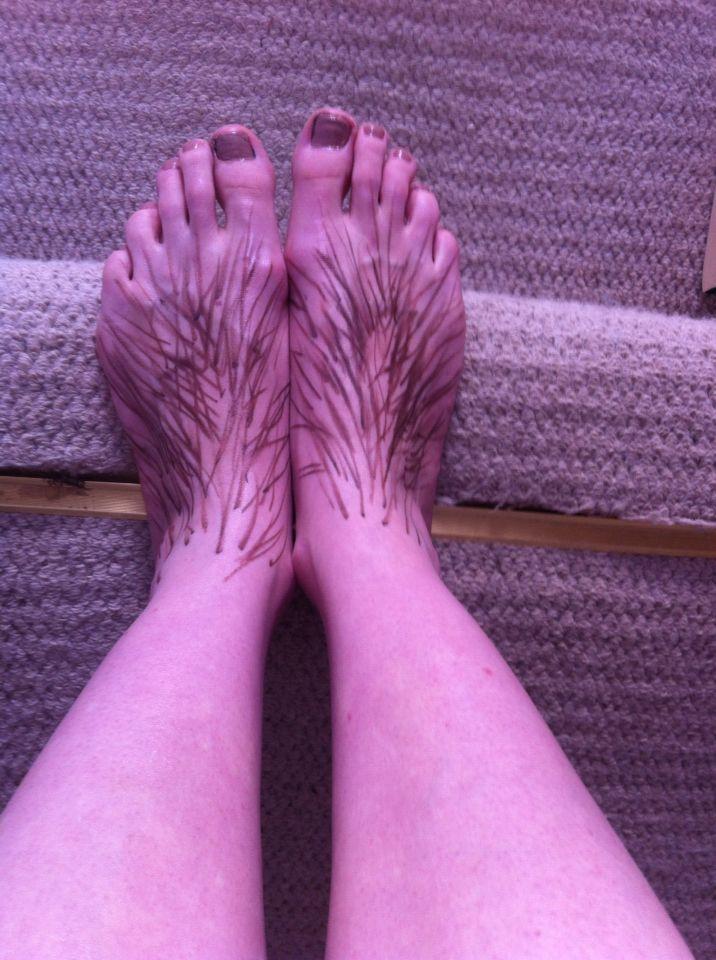 hobbit feet fancy dress