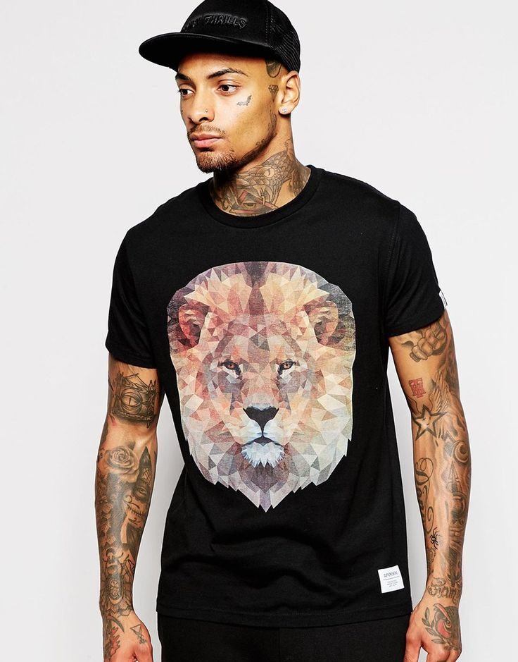 Supremebeing+T-Shirt+With+Geo+Lion+Print