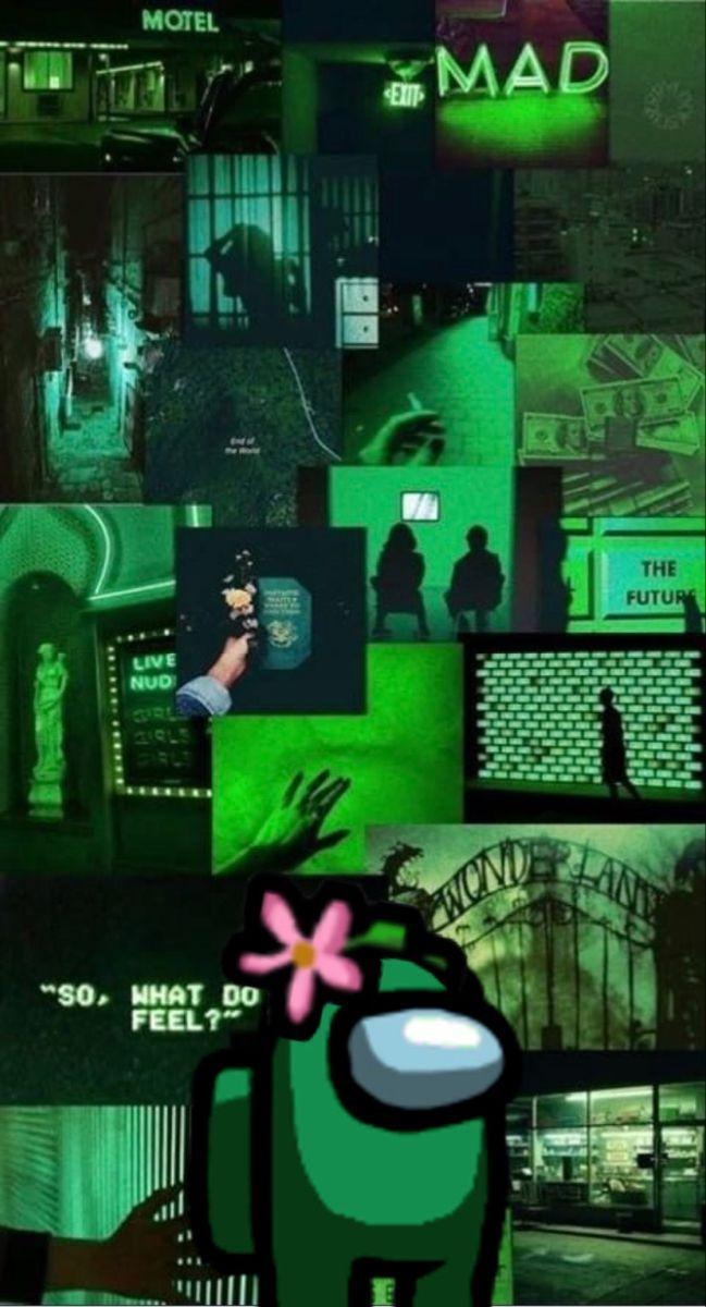 Among Us Green Aesthetic Dark Green Aesthetic Aesthetic Pastel Wallpaper
