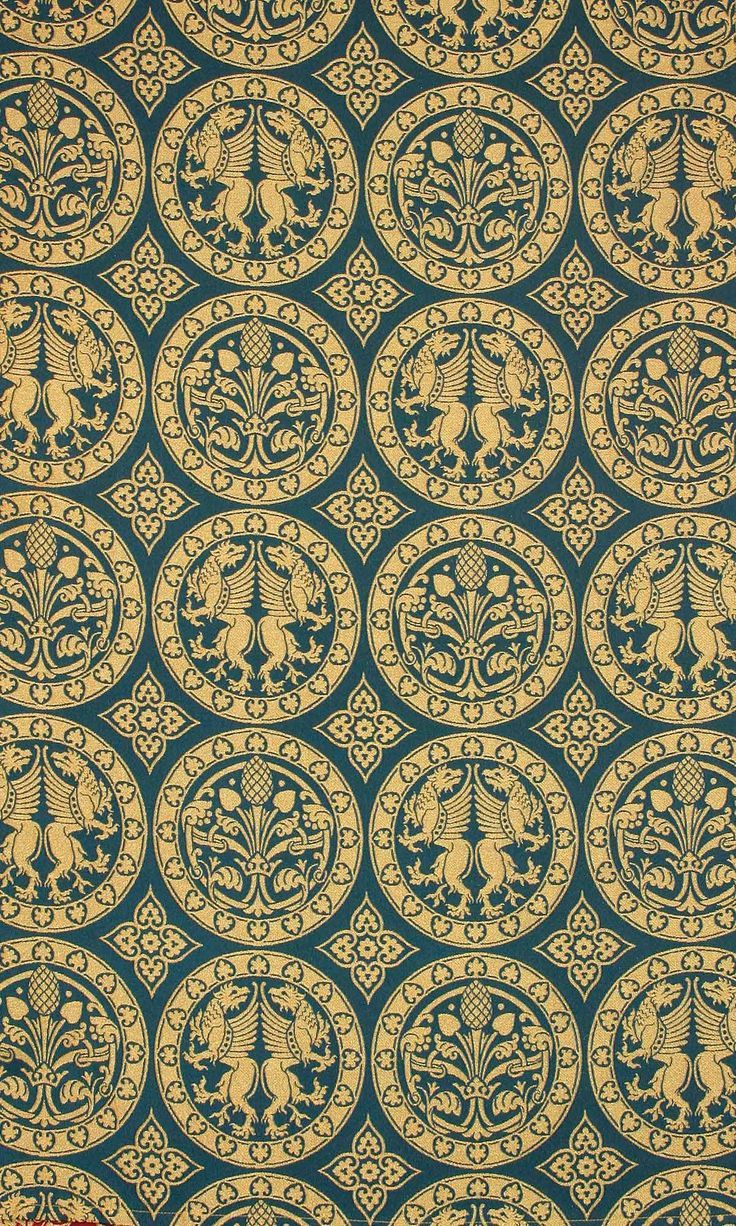 byzantine fabric patterns - Google Search | Medieval