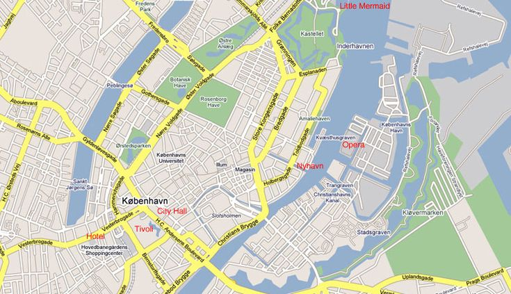 Panzhihua - Hylte - Map Copenhagen City Centre