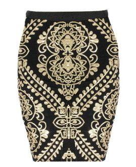 Embellished Gilt Skirt | Women's Bottoms | RicketyRack.com | Keep.com