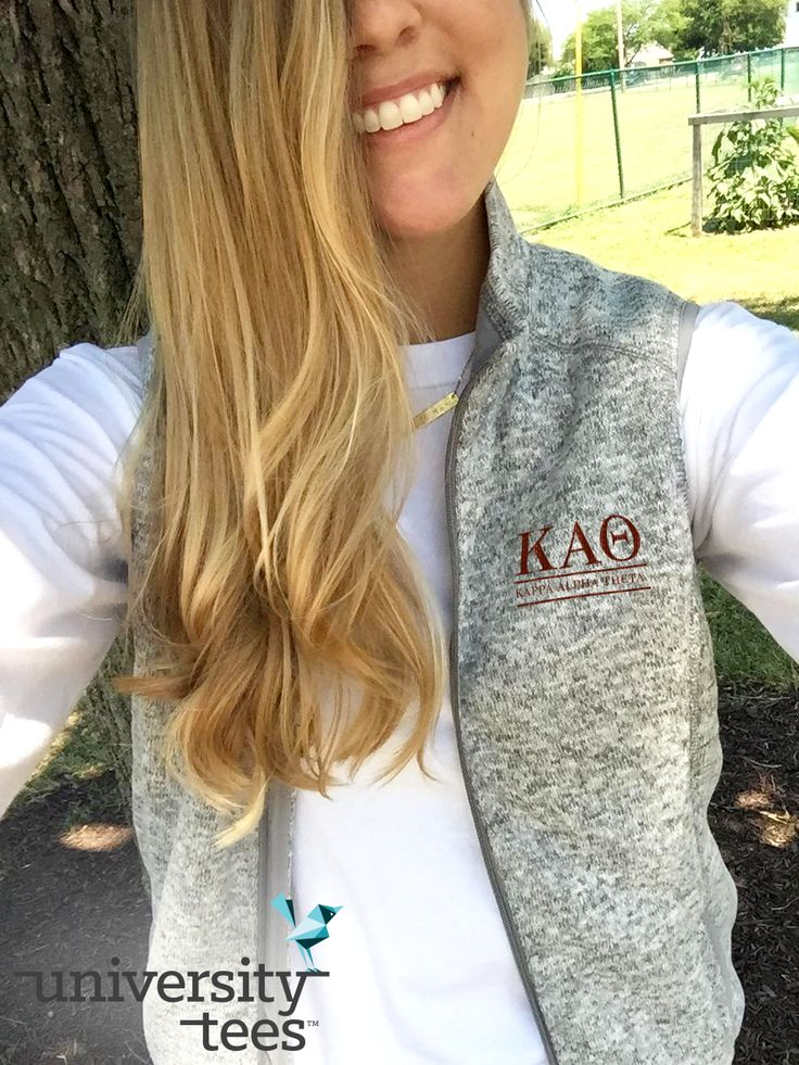ready for fall with these adorable vests!   Kappa Alpha Theta   Made by University Tees   universitytees.com