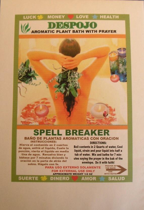 Oracion De Despojo | despojo spell breaker herbal bath with prayer despojo bano de