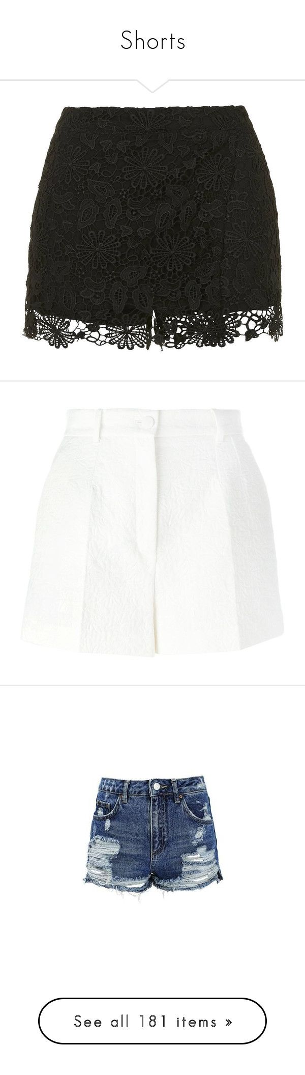 """Shorts"" by piggy-nl ❤ liked on Polyvore featuring shorts, black, crochet shorts, crochet hot pants, hot shorts, wrap shorts, micro shorts, short, pants and bottoms"