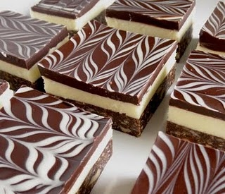 Nanaimo Bars - these are the prettiest I've seen!