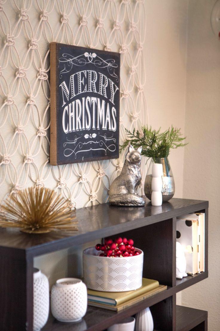 Chalkboard Merry Christmas Hanging Wall Decor.