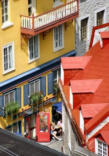 Quebec city bakery (district of Petit Champlain) Canada