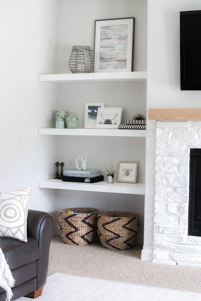 Innenarchitektur : Kühles Wohnzimmer Regal Dekorieren Wandnischen ...