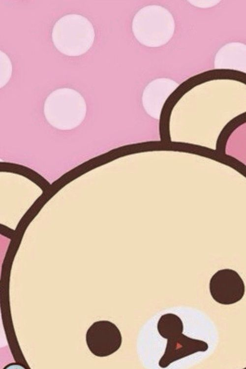 Rilakkuma kawaii iphone ipod background pink girly