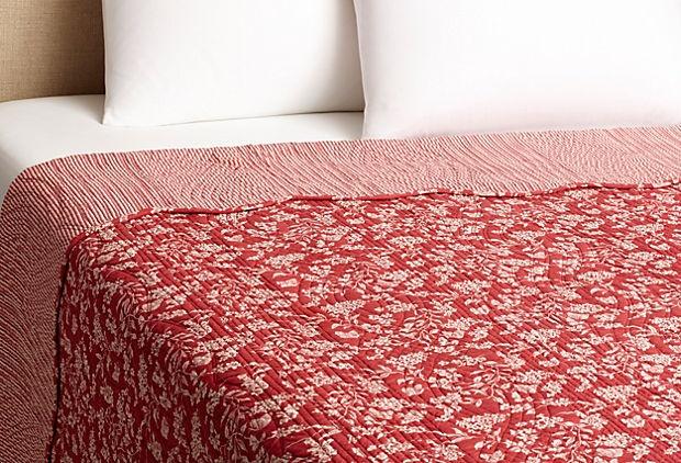 Toile Quilt, Red on OneKingsLane.com
