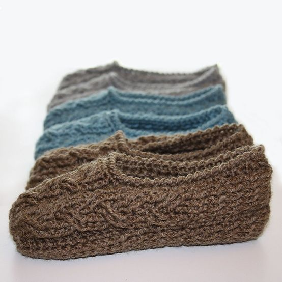 Ravelry: Cottage Slippers pattern by Kim Miller.