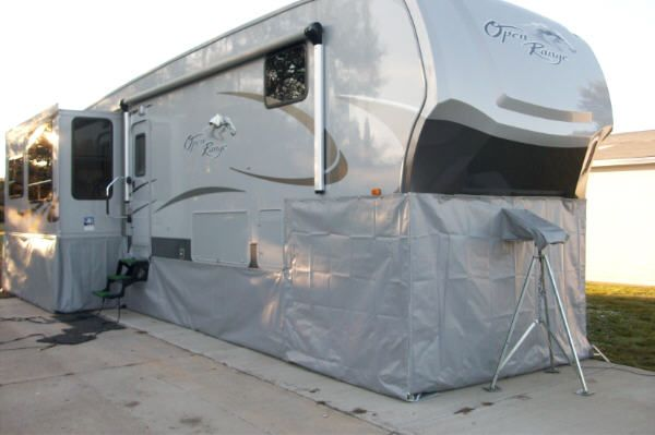 Open Range 5th Wheel With Light Grey Skirting Rv Living