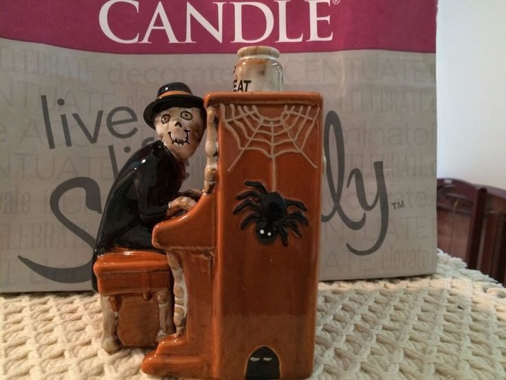 Yankee Candle Boney Bunch Boney Joel Piano Man Taper Holder - New for 2015