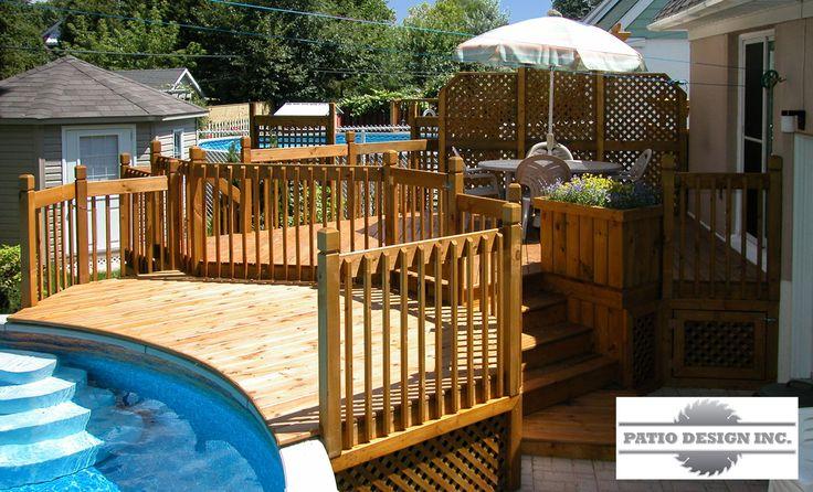 construire patio piscine hors terre recherche google ext rieur pinterest patios. Black Bedroom Furniture Sets. Home Design Ideas