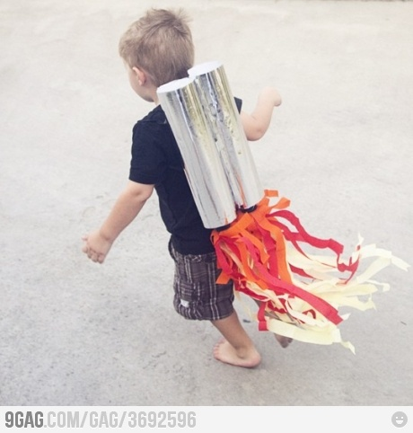 Awesome jetpack kid!