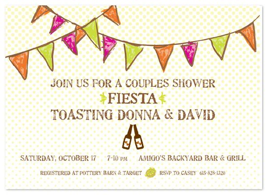 shower invitations - Fiesta Couples Shower by Casey Hooper