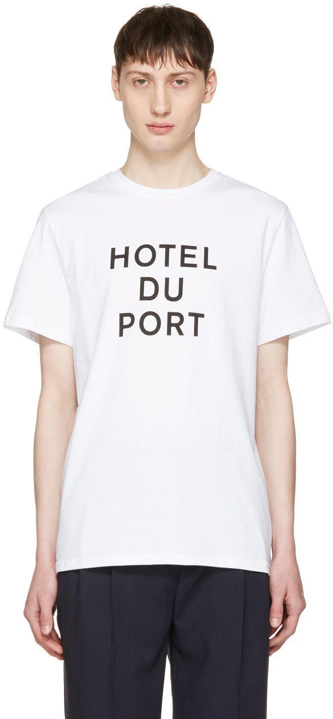 Éditions M.R  - White 'Hotel du Port' T-Shirt