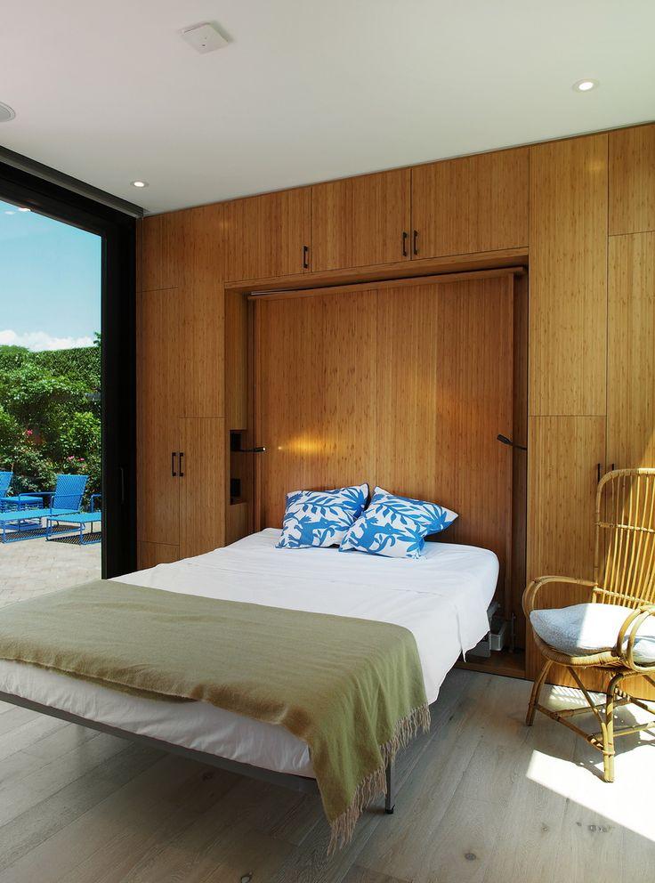 modular pool house interior - Kleine Fertigkabine