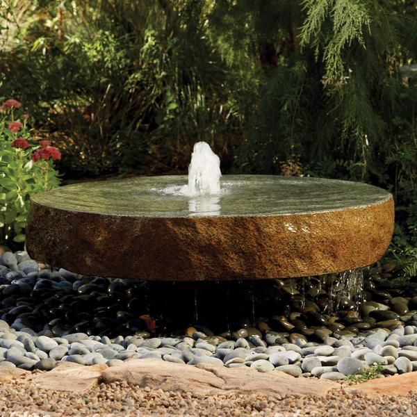 Natural Millstone Fountainstone Forest Outdoor Spaces