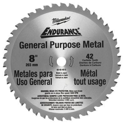 Milwaukee Electric Tools Endurance Carbide Circular Saw Blades