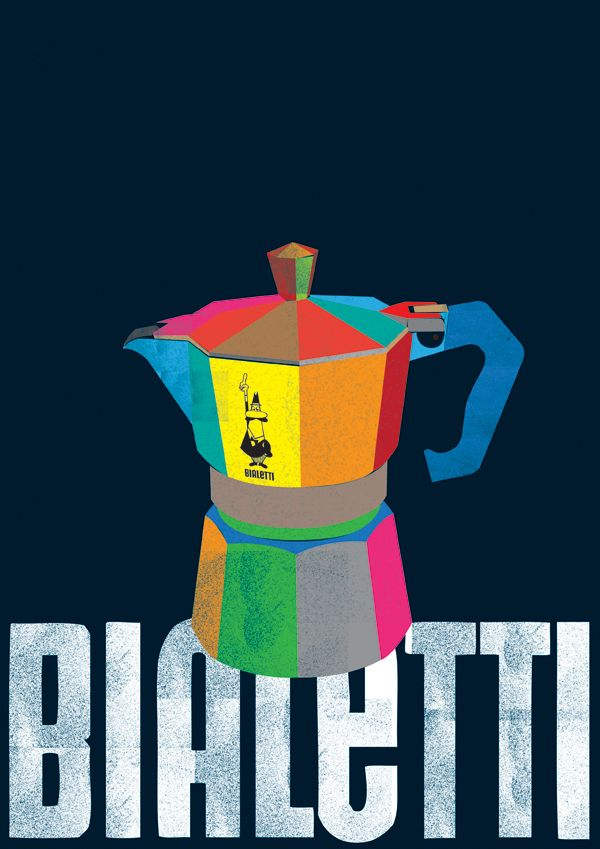 Bialetti Moka Illustration on the Behance Network #cafeteras #italianas #moka…
